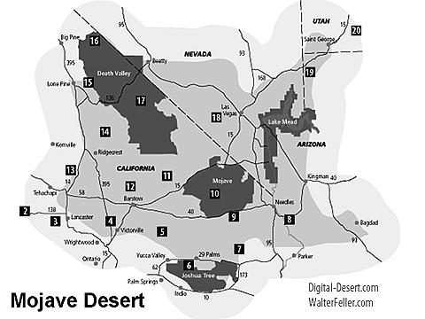 Map of Mojave Desert