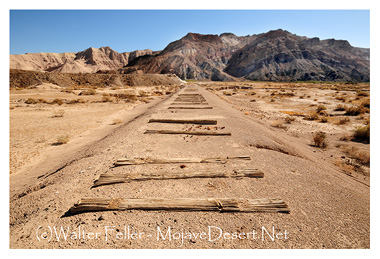 photo of Tonopah and Tidewater railroad bed near Amargosa River Gorge